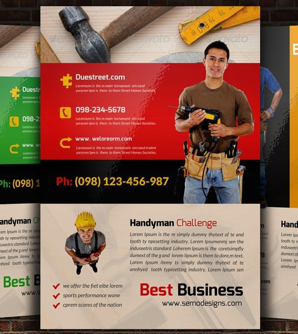 13+ Best Handyman Flyer Templates & Designs! | Free & Premium ...
