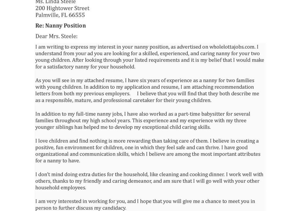 recommendation letter for child care worker reference letter. job ...