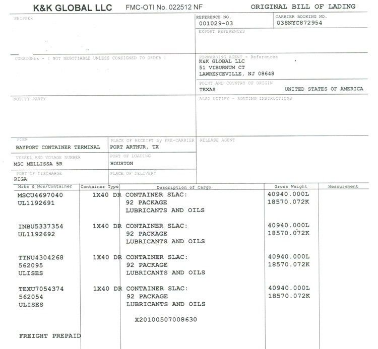 Bill Of Lading Template Word Sample & Format – Microsoft Word ...