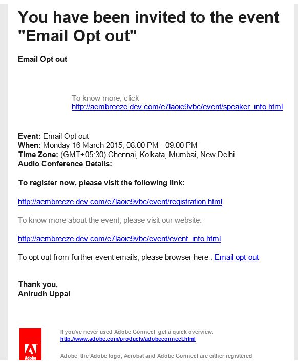 "How do we enable the ""Email-Opt-Out"" option on Events ? 
