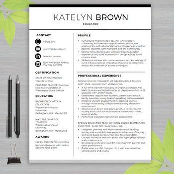 Free Teaching Resume Templates - Resume CV Cover Letter