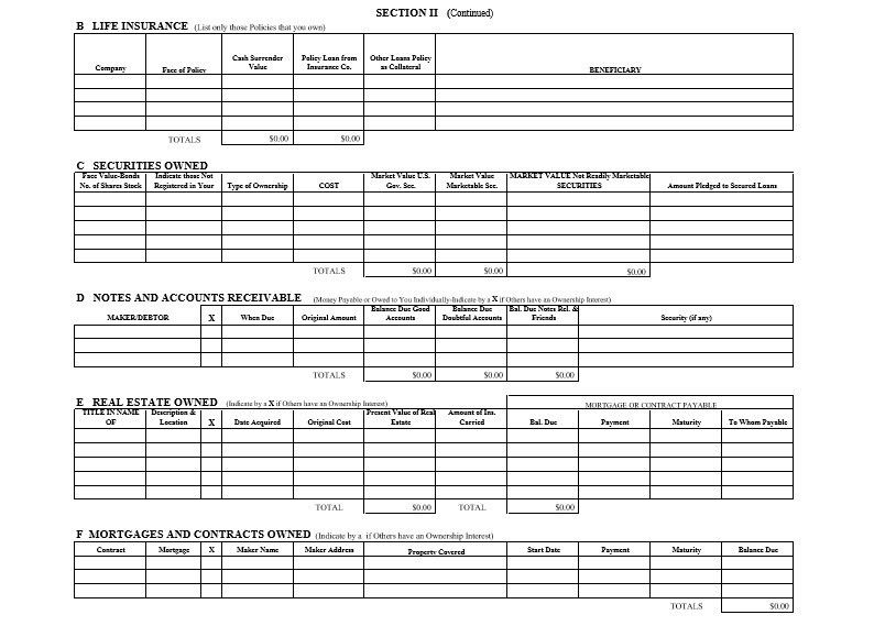 Professional Personal Financial Statement Template Free - Excel Tmp