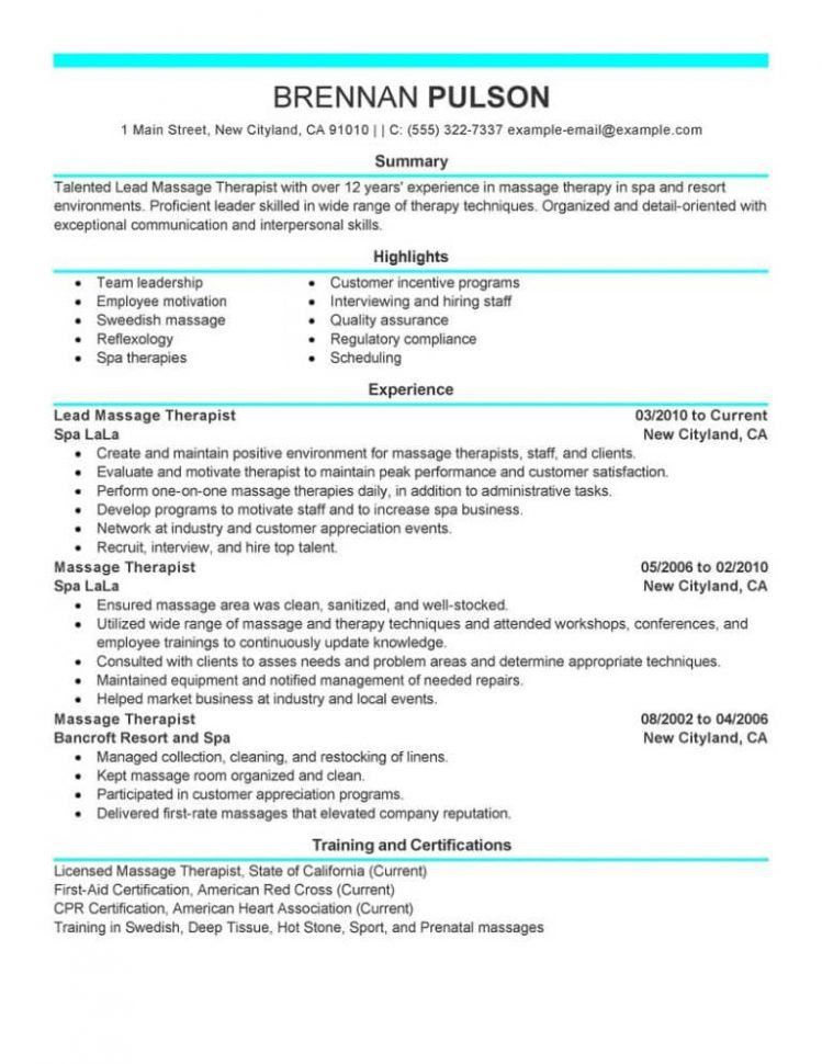 massage therapy job description massage therapy resume the best
