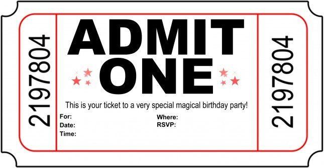 Printable Birthday Party Invitations - iidaemilia.Com