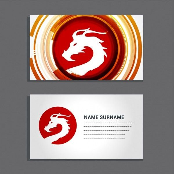 Name card template football logotype decor Free vector in Adobe ...