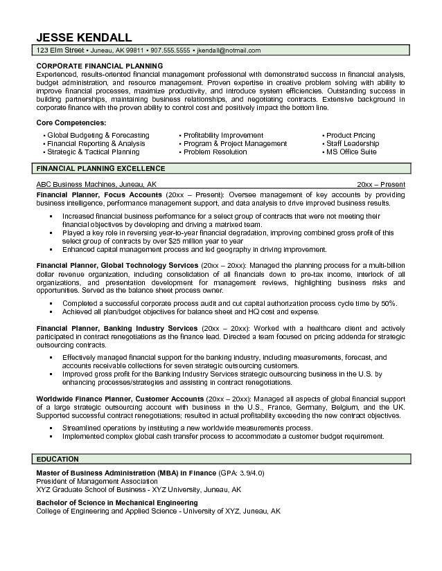 Financial Advisor Job Description. Writing Credit Analyst Resume ...