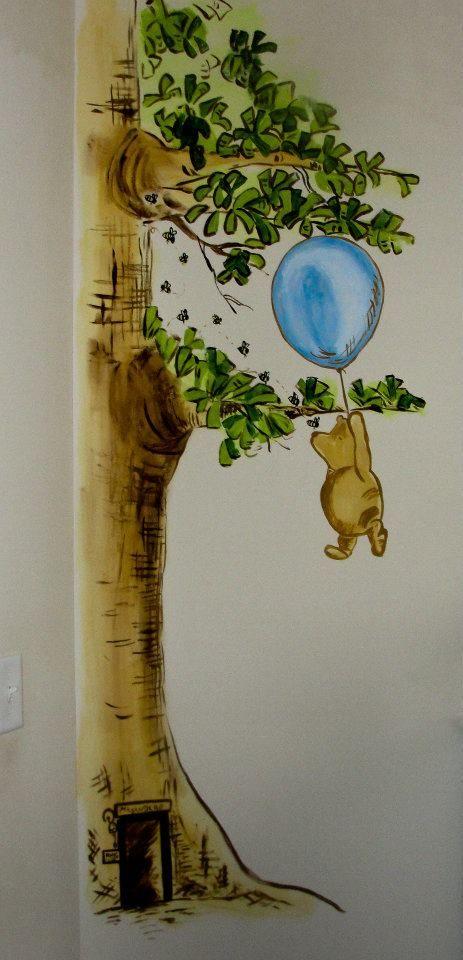winnie the pooh nursery murals