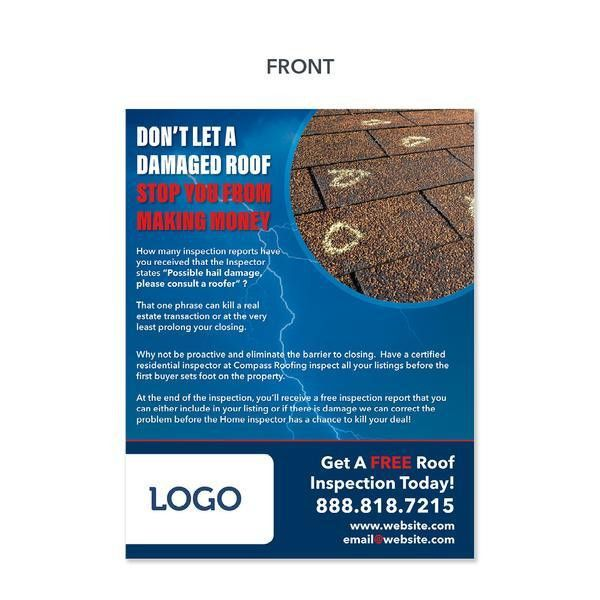 Storm Damage Flyer for Roofers - Design Print Services ...