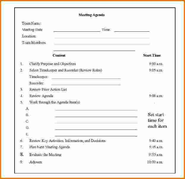 4 sample meeting agenda template | Divorce Document