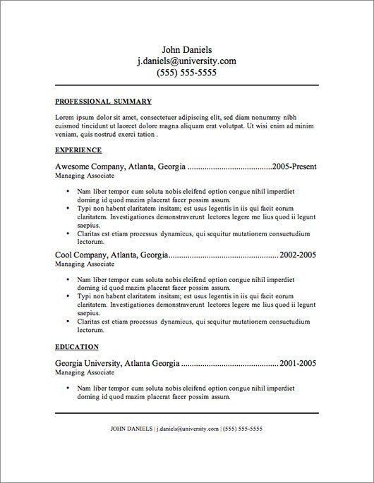 20 best Basic Resumes images on Pinterest | Cv template, Resume ...