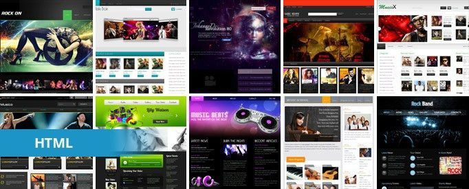 15 Free Music HTML Website Templates | TemplateMag