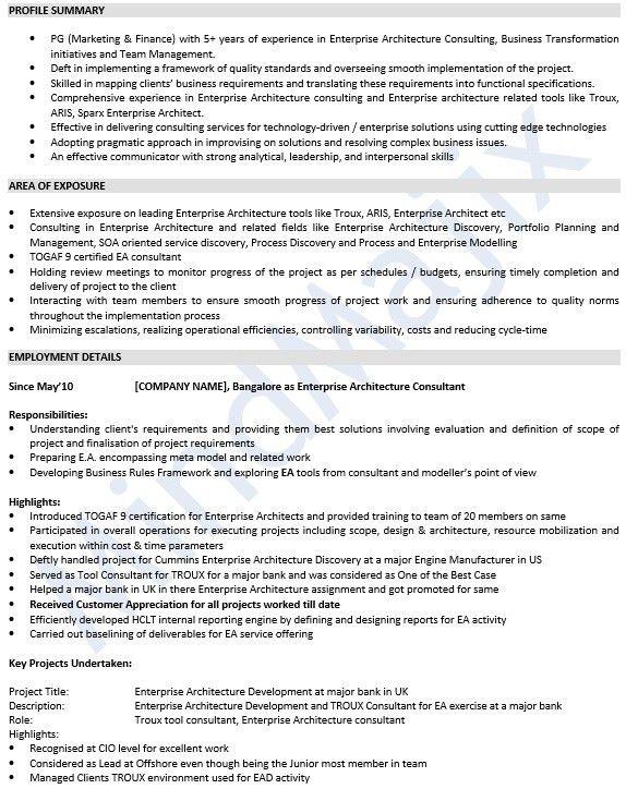Project architect resume samples visualcv resume samples database