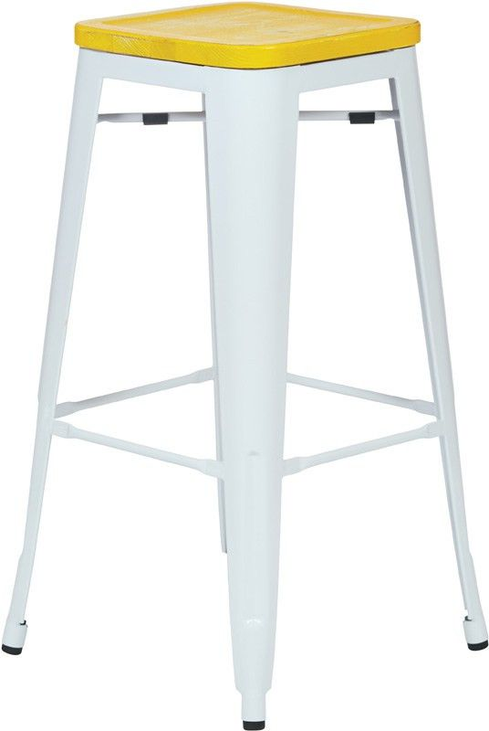Designs Bristow 30'' Metal Barstool with Wood Seat - Set of 4 ...