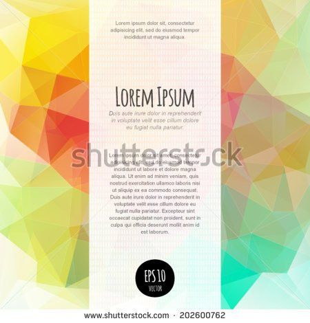 Vector Spectrum Polygonal Abstract Background Business Stock ...