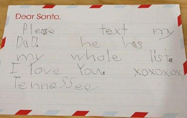"""Dear Santa...,"""" 15 Kids With Hilarious Christmas Requests."""