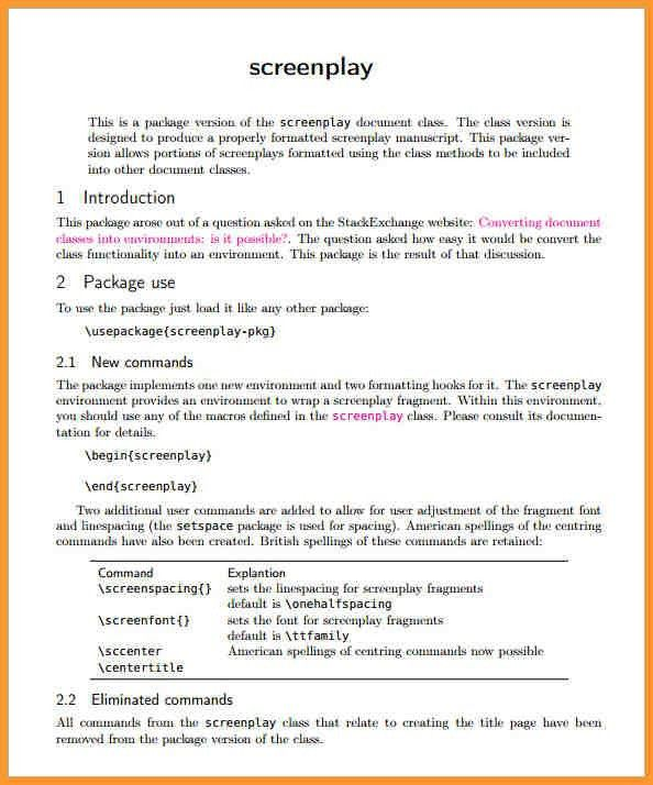 Sample cover letter for screenplay submission
