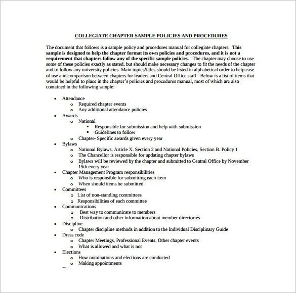 Policy and Procedure Templates - Word & PDF Download | Creative ...