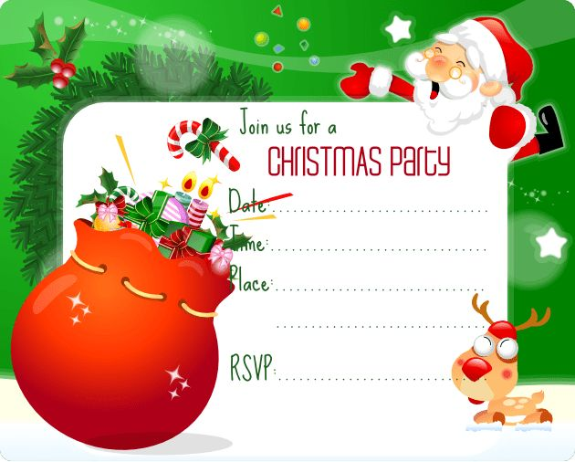 Free Christmas Party Invitation Templates | Best Template Collection