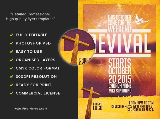 Church Revival Flyer Template - FlyerHeroes