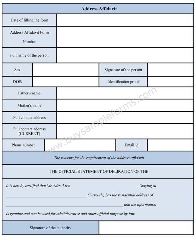 Affidavit Template Word : 33 Printable Affidavit Form Template ...