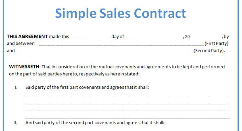Sales Contract Agreement. Image Of Page 3 E Sales Conrac A Conrac ...