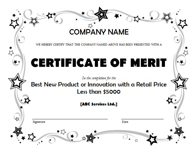 Get Merit Certificate Template Sample PDF – Microsoft Office ...