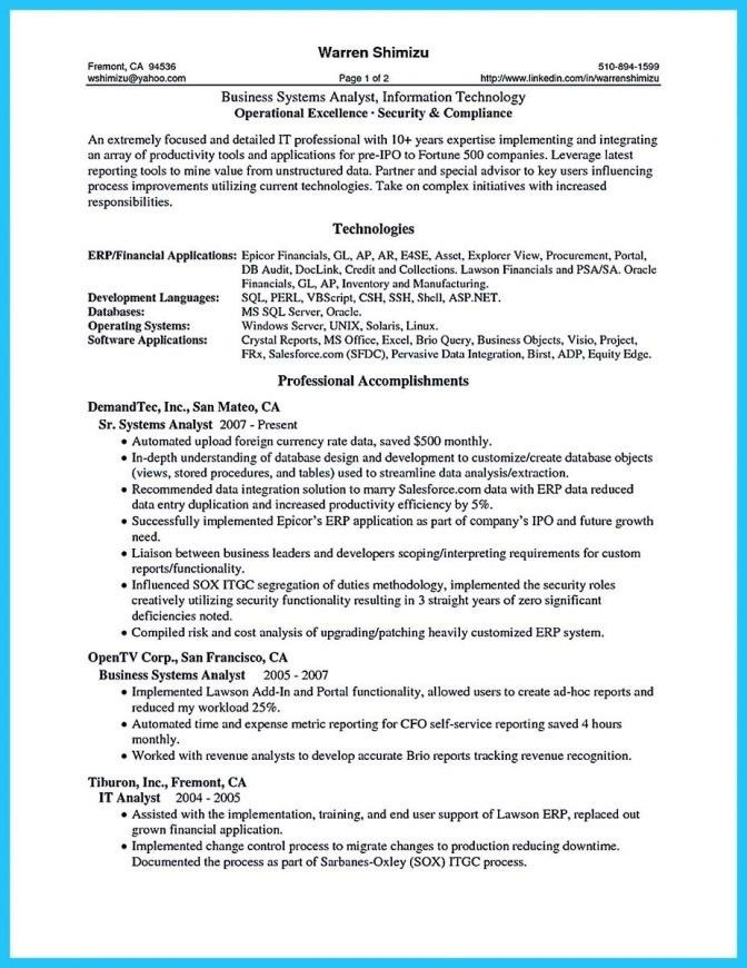 entry level business analyst resume sample example 4 business