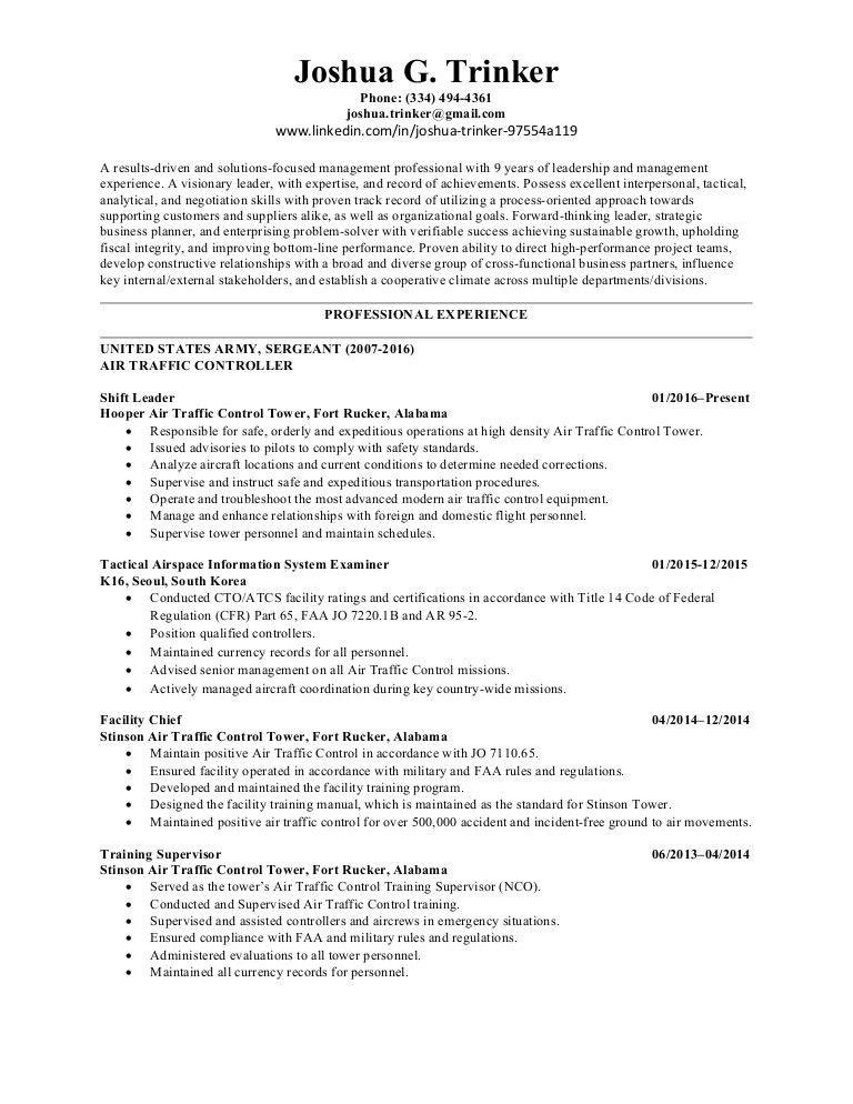 Trinker Resume