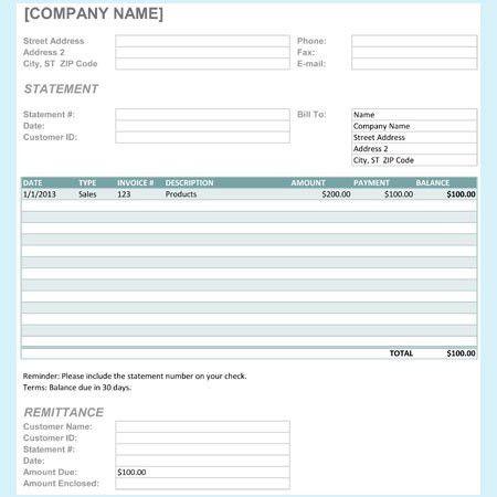 Billing Statement Template. Rental Invoice Template Rental Invoice ...
