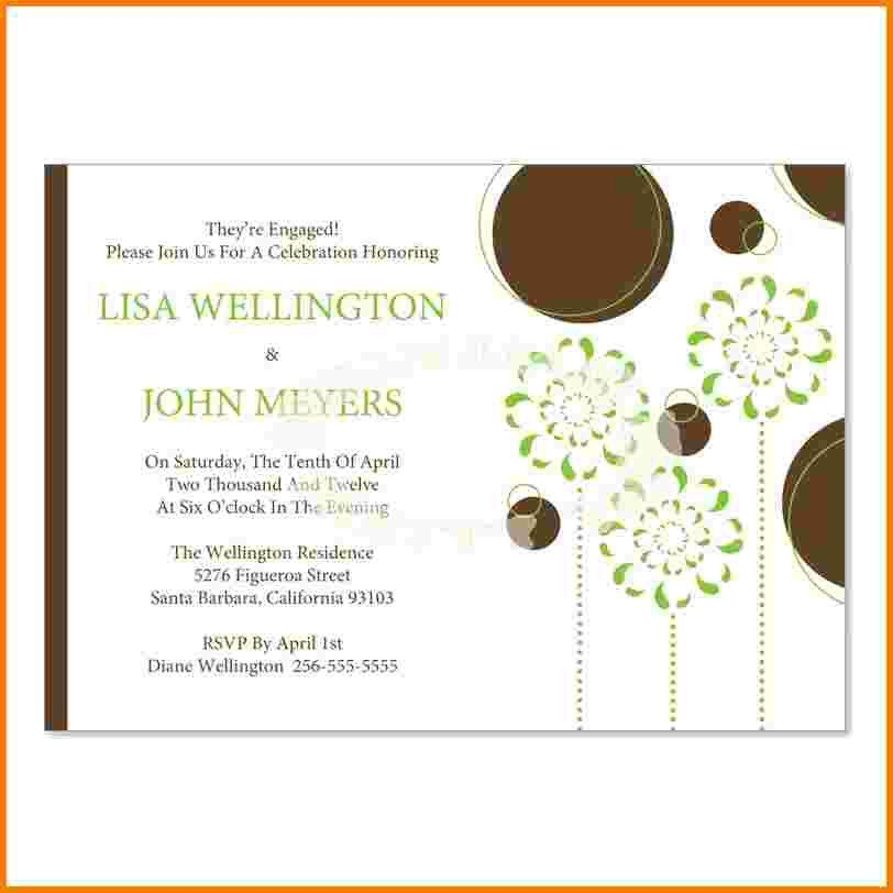 6 engagement party invitation templates | Receipt Templates