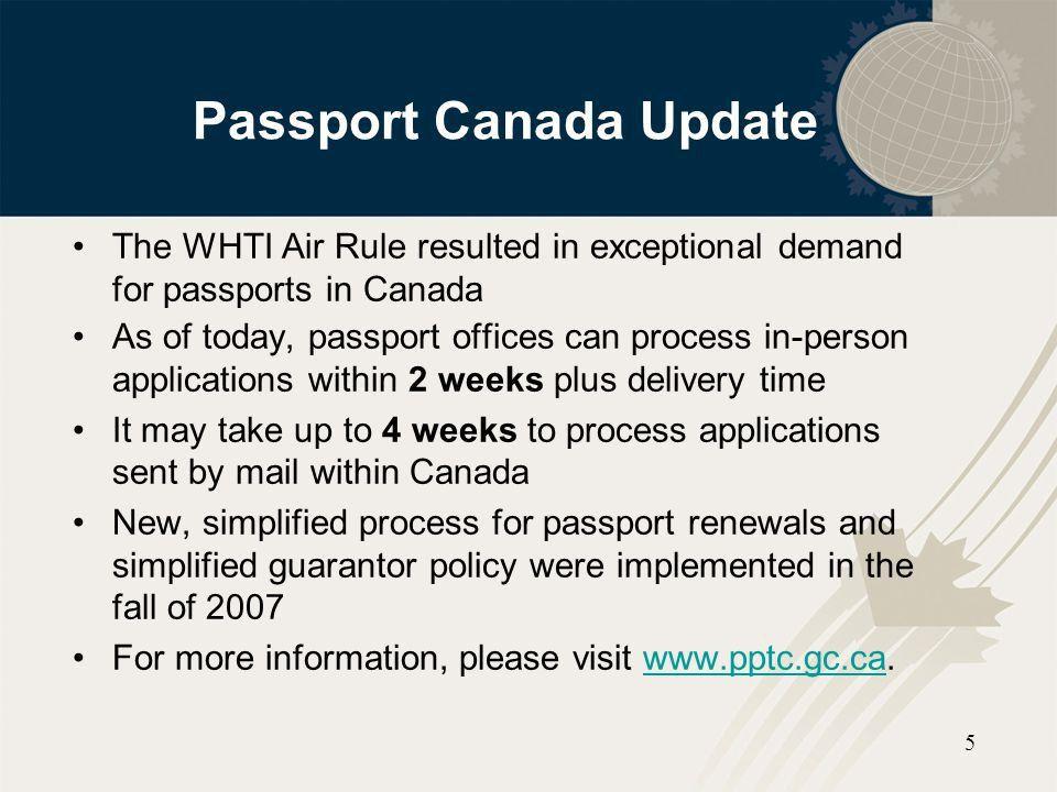 Western Hemisphere Travel Initiative (WHTI) - ppt download