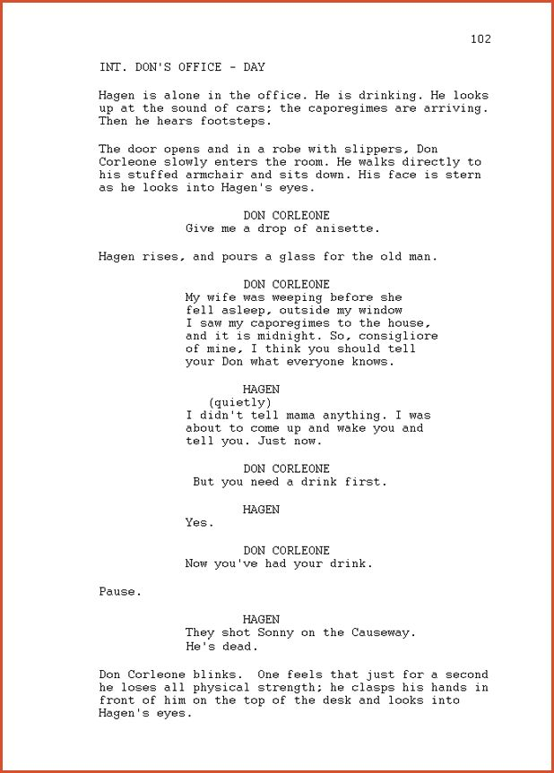 SCREENPLAY EXAMPLE.sample Script Page.png - proposal bid template