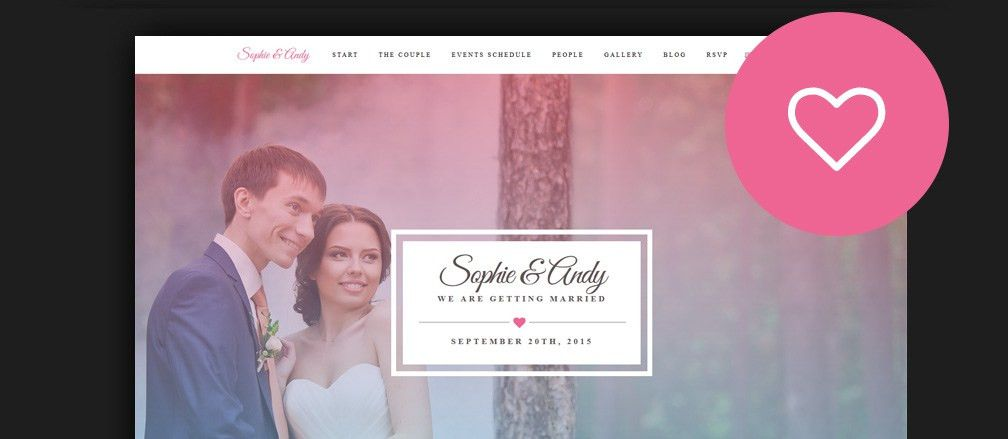 60+ Best HTML Wedding Website Templates 2017