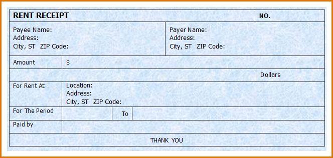 9+ rent receipt template word | Job Resumes Word