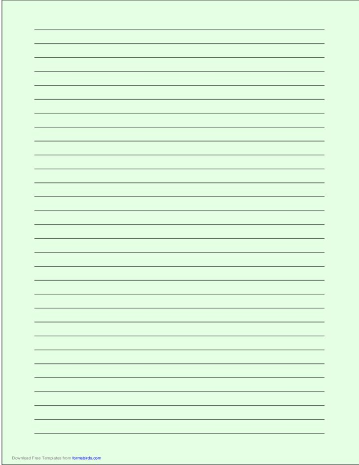 wide ruled lines template