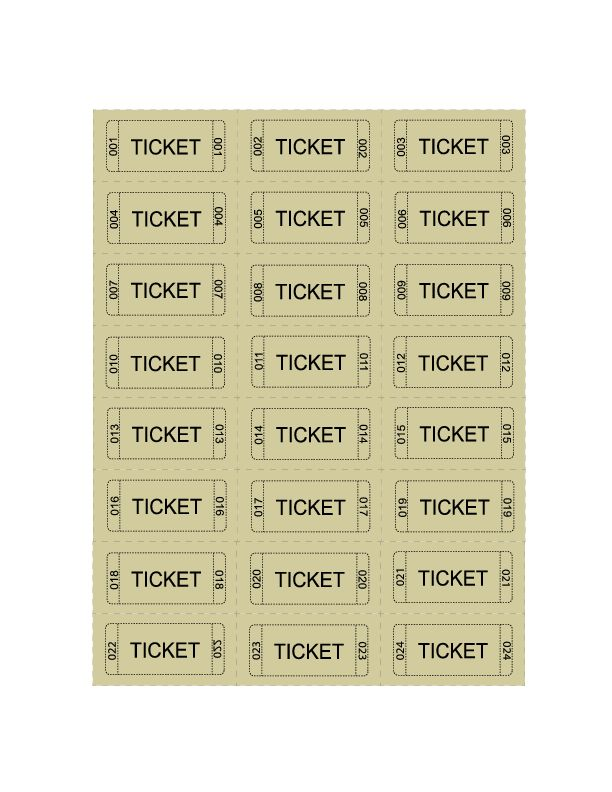 Printable Raffle Tickets   April Calendar   April Calendar