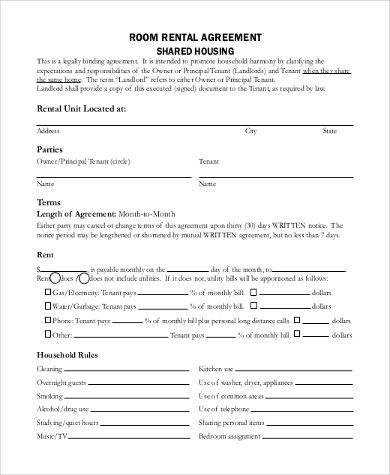 Sample Blank Rental Agreement Form   8+ Free Documents In Doc, PDF