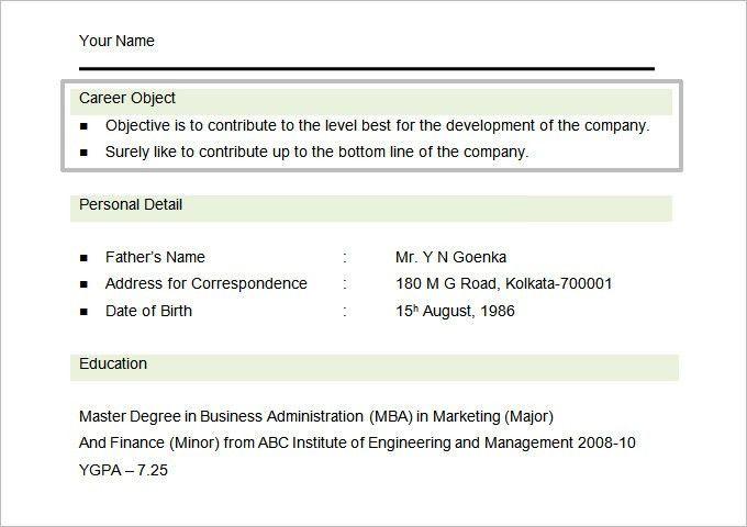 Download Student Resume Objectives | haadyaooverbayresort.com