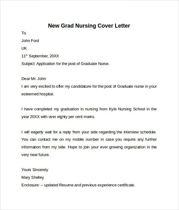 example of cover letter new graduate nurse httpresumesdesigncom ...