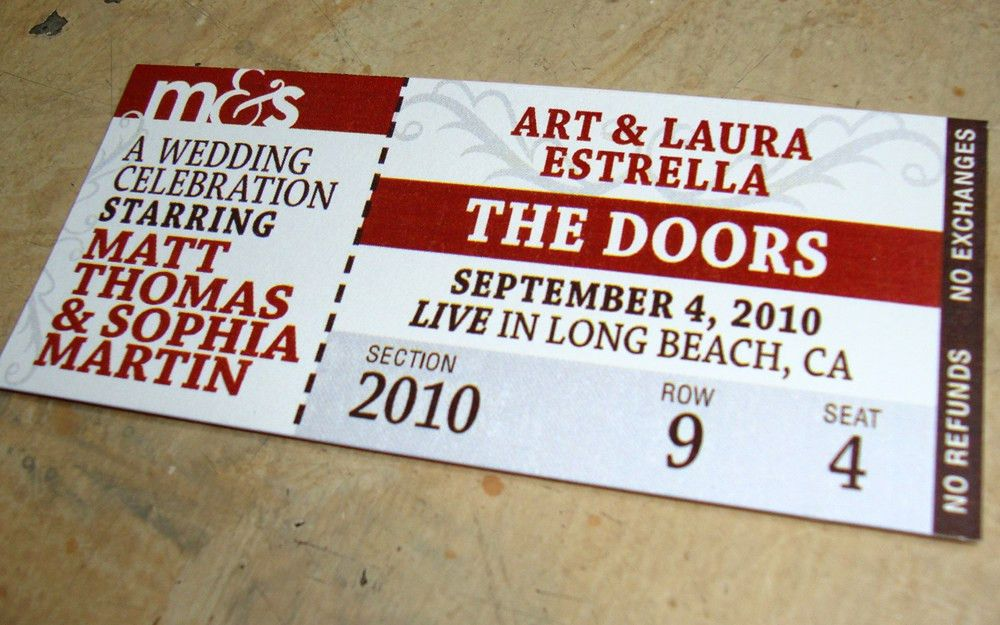design update] custom invites & tickets – papercake designs