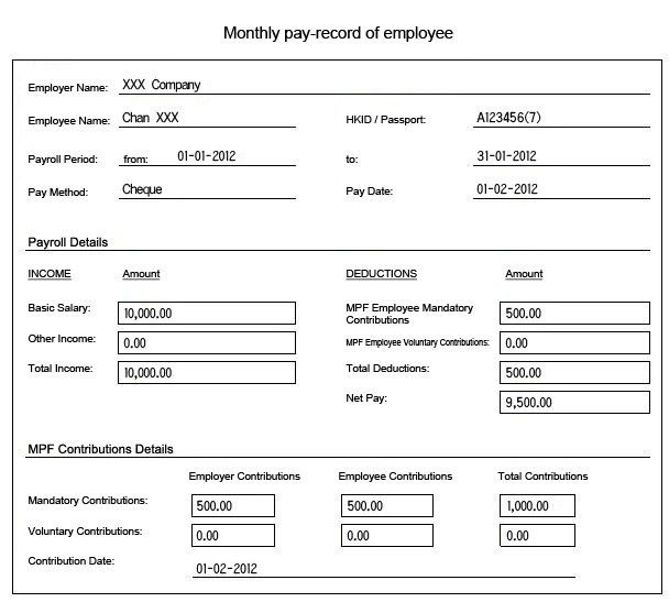 Issuing Pay-records