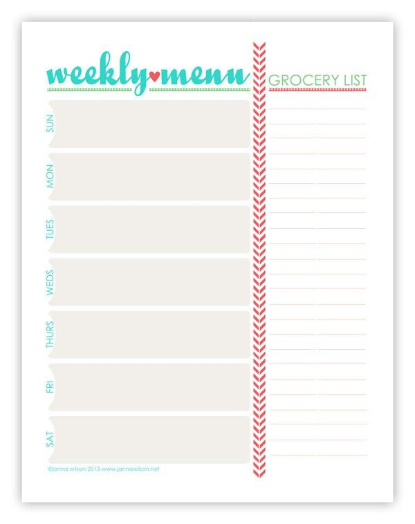Menu Plan Monday ~ July 15/13 | Weekly menu planners, Menu ...