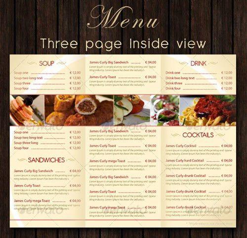 25 High Quality Restaurant Menu Design Templates | Web & Graphic ...