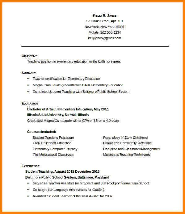 Teacher Resumes Templates. Opulent Design Teaching Resume ...