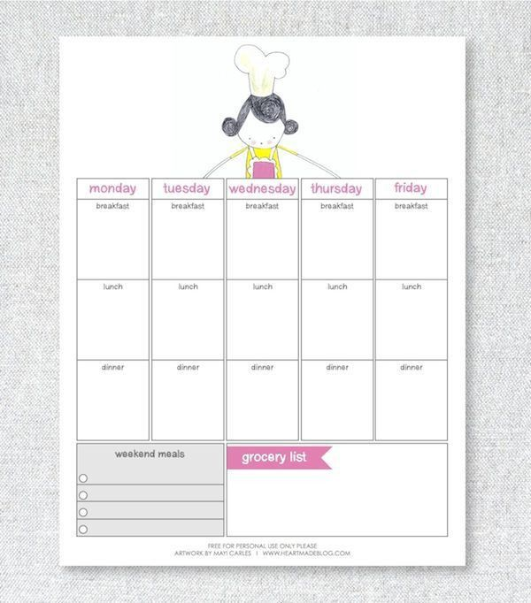 Best 25+ Meal planner printable ideas on Pinterest | Meal planner ...