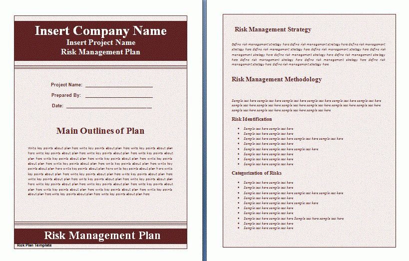 Risk Management Plan Template | Free Printable Word Templates,