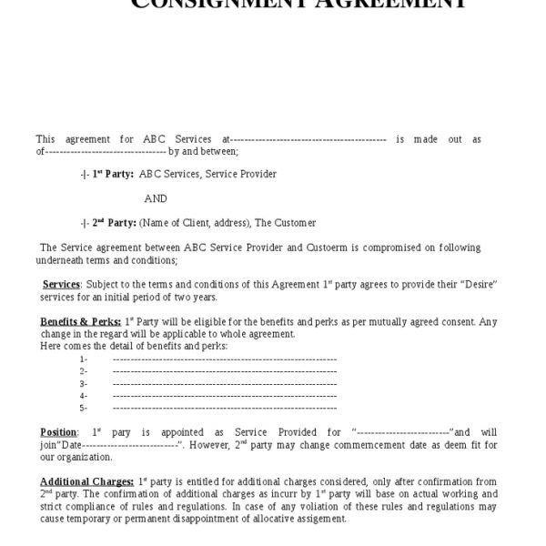 Consignment Inventory Agreement Template - cv01.billybullock.us