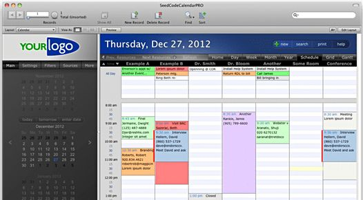 FileMaker Calendar, Resources Scheduling, and Gantt Chart - SeedCode
