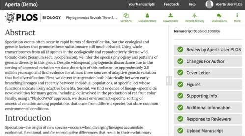 PLOS Biology: A Peer-Reviewed Open-Access Journal
