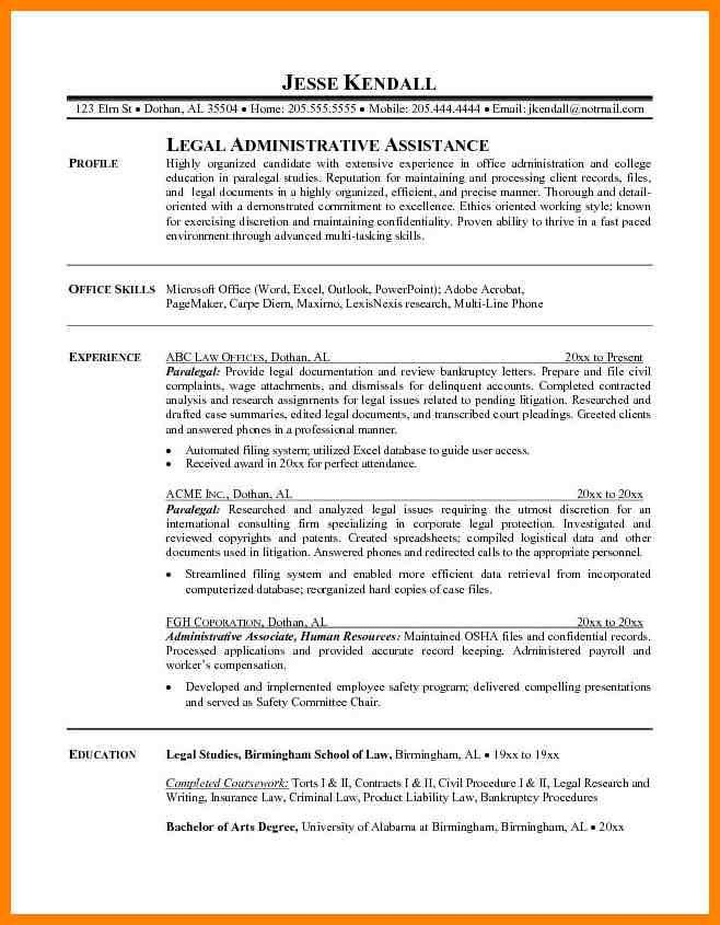 100+ [ Paralegal Resume Samples ] | Example Of Chief Pilot Resume ...